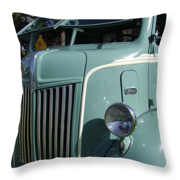 1947 Ford Cab Over Truck Throw Pillow by Mary Deal