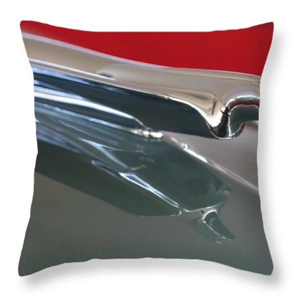1948 Cadillac Series 62 Hood Ornament Throw Pillow by Jill Reger