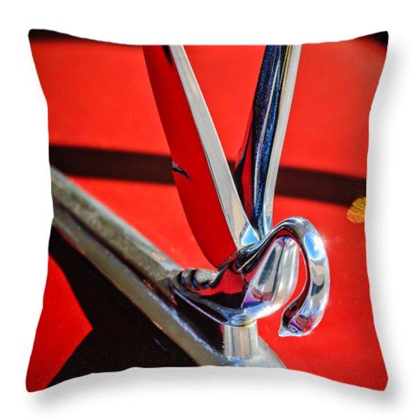 1948 Packard Hood Ornament 2 Throw Pillow by Jill Reger