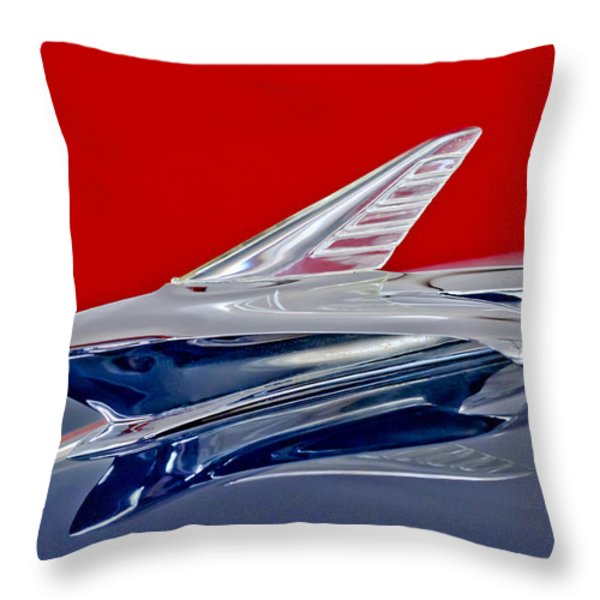 1951 Ford Woodie Hood Ornament Throw Pillow by Jill Reger