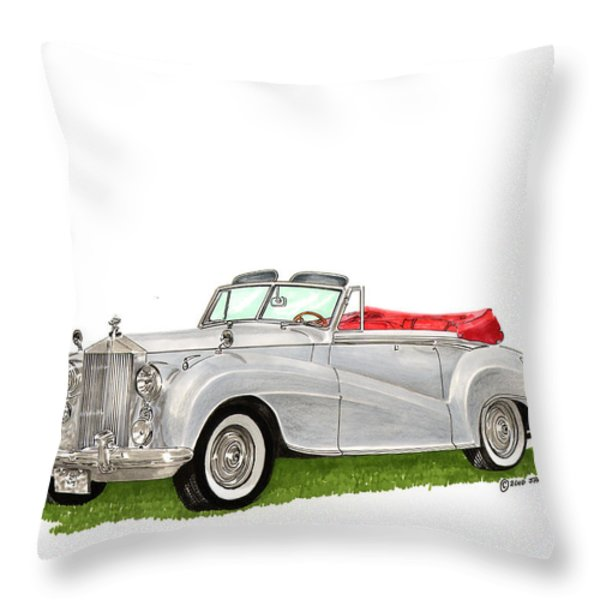 1953 Rolls Royce Silver Dawn Throw Pillow by Jack Pumphrey