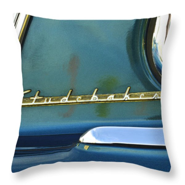 1953 Studebaker Champion Starliner Abstract Throw Pillow by Jill Reger