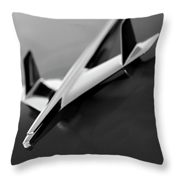 1955 Chevrolet Belair Hood Ornament 2 Throw Pillow by Jill Reger