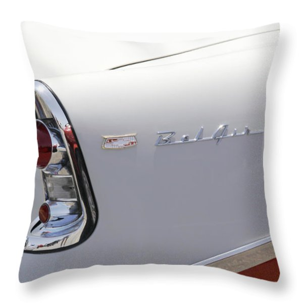 1956 Chevy Belair Throw Pillow by Mike McGlothlen
