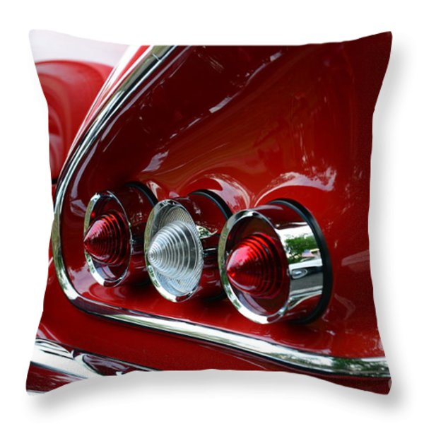 1958 Impala tail lights Throw Pillow by Paul Ward