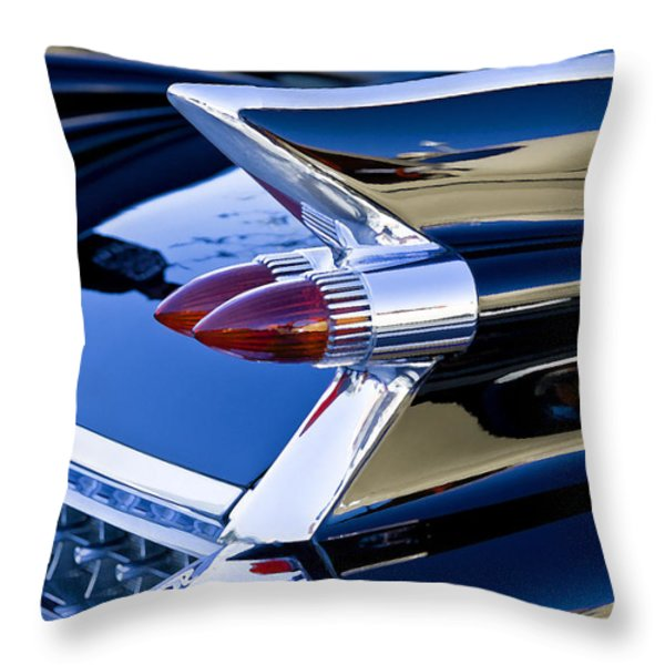 1959 Black Caddy Throw Pillow by Rich Franco