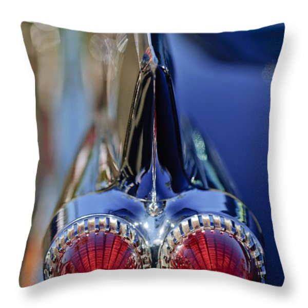 1959 Cadillac Eldorado Tail Fin 4 Throw Pillow by Jill Reger