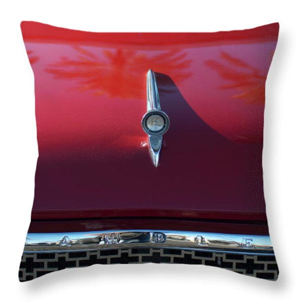 1961 Rambler Hood Ornament 2 Throw Pillow by Jill Reger