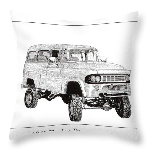1962 Dodge Powerwagon Throw Pillow by Jack Pumphrey