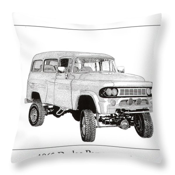 1962 Dodge Powerwagon Throw Pillow by Jack Pumphrey