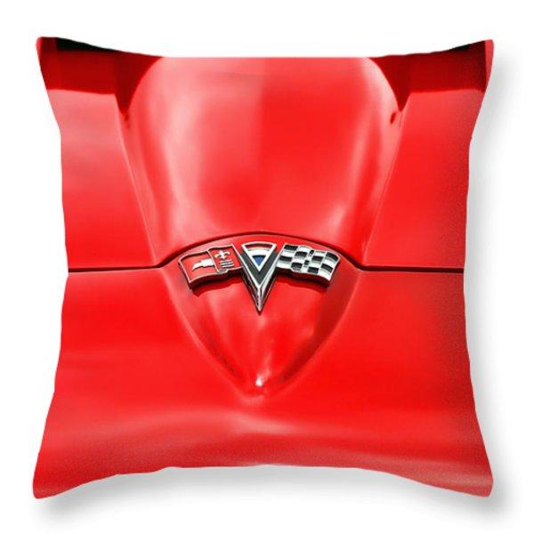 1965 Chevy Corvette Hood Scoop Throw Pillow by Gordon Dean II