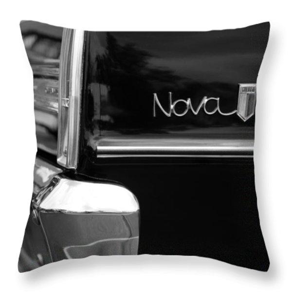 1966 Chevy Nova II Throw Pillow by Gordon Dean II