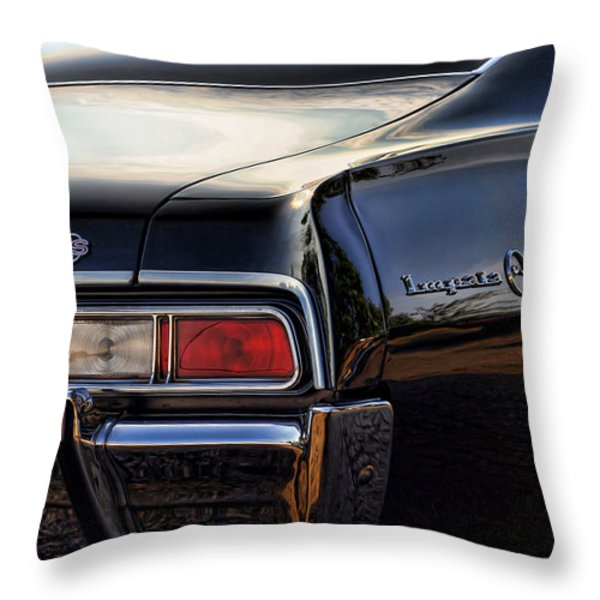 1967 Chevy Impala SS Throw Pillow by Gordon Dean II