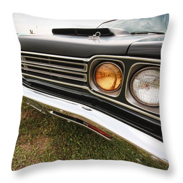 1969 Plymouth Road Runner 440-6 Throw Pillow by Gordon Dean II
