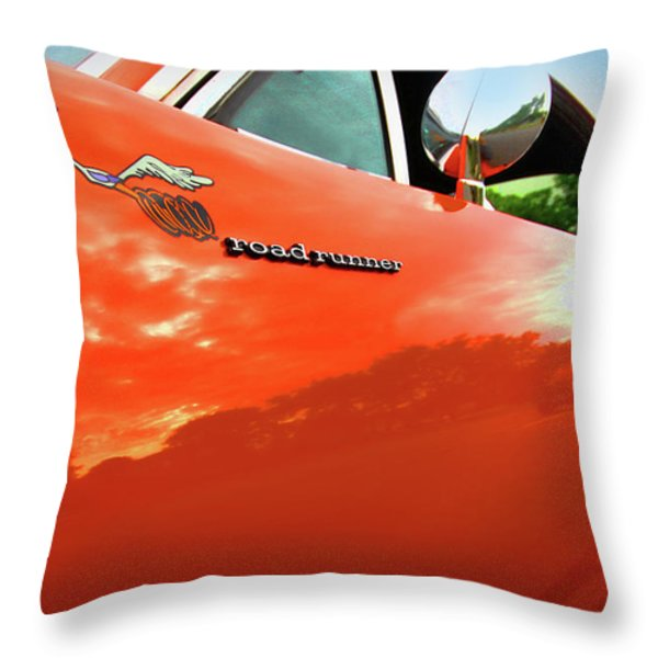 1969 Plymouth Road Runner 440 Roadrunner Throw Pillow by Gordon Dean II