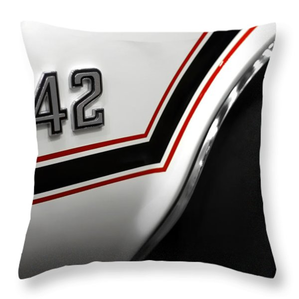 1970 Olds 442 Indy 500 Pace Car Throw Pillow by Gordon Dean II