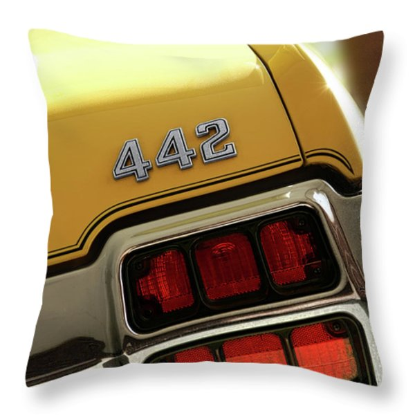 1972 Oldsmobile Cutlass 4-4-2 Throw Pillow by Gordon Dean II