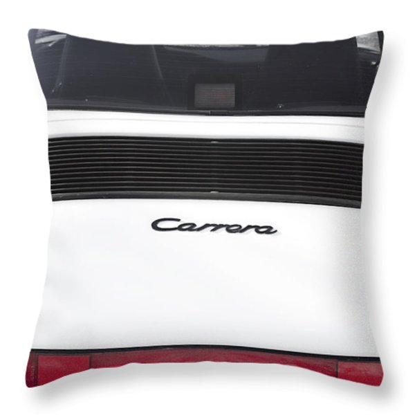 1987 White Porsche 911 Carrera Back Throw Pillow by James BO  Insogna
