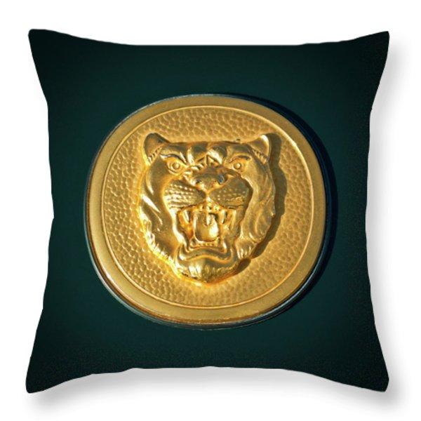 1994 Jaguar XJS Emblem Throw Pillow by Jill Reger