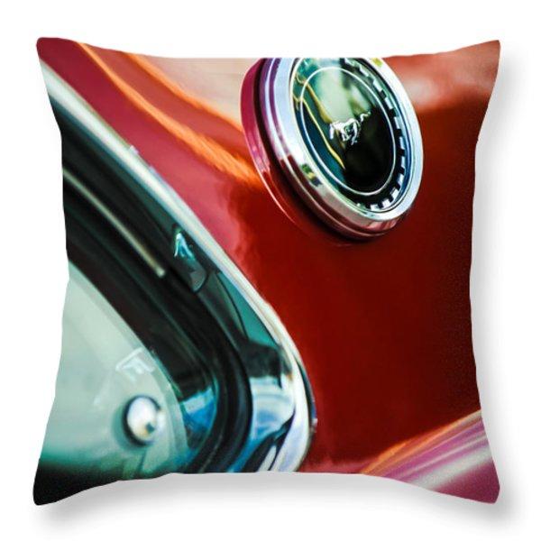 1969 Ford Mustang Mach 1 Emblem Throw Pillow by Jill Reger