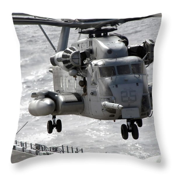 A Ch-53e Super Stallion Helicopter Throw Pillow by Stocktrek Images