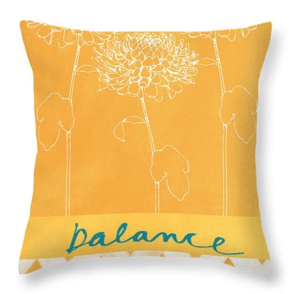 Balance Throw Pillow by Linda Woods