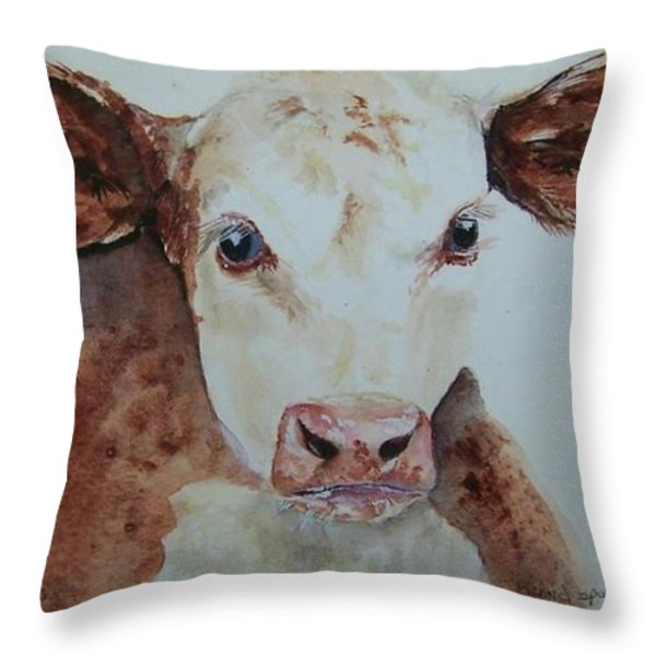 Brand Spankin New Throw Pillow by Susan Gahr
