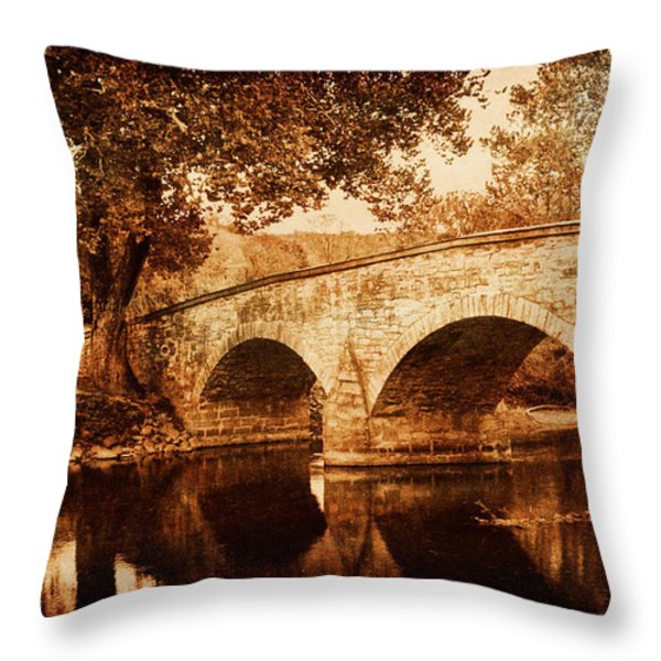 Burnside Bridge Throw Pillow by Mick Burkey