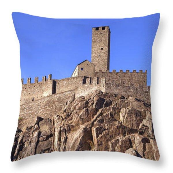 Castelgrande - Bellinzona Throw Pillow by Joana Kruse
