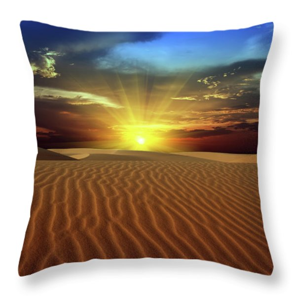Desert Throw Pillow by MotHaiBaPhoto Prints