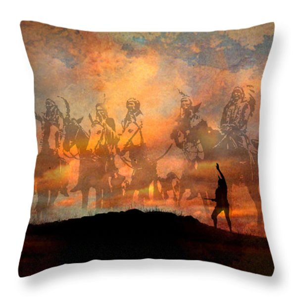 Forefathers Throw Pillow by Paul Sachtleben