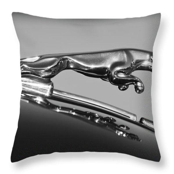 Jaguar Hood Ornament 2 Throw Pillow by Jill Reger