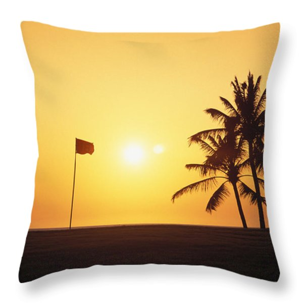 Mauna Kea Beach Resort Throw Pillow by Carl Shaneff - Printscapes