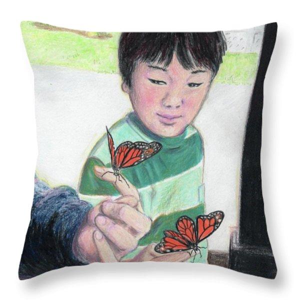 Ready To Fly Throw Pillow by Yoshiko Mishina