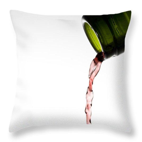 Red Wine Throw Pillow by Frank Tschakert