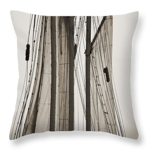 Schooner Pride Tall Ship Charleston SC Throw Pillow by Dustin K Ryan