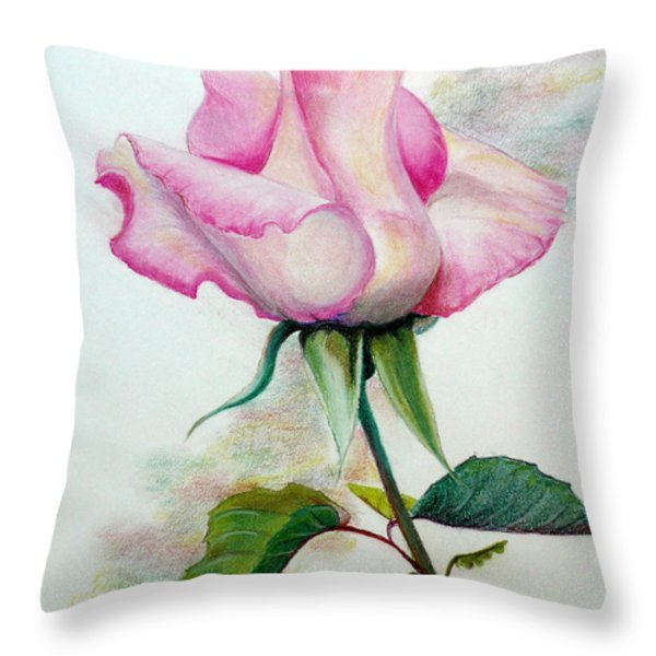 SO PINK Throw Pillow by KARIN KELSHALL- BEST