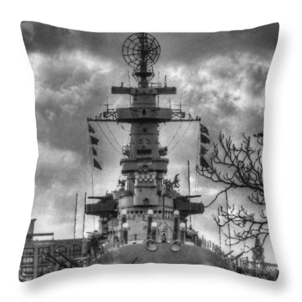 U.s.s. North Carolina Throw Pillow by JC Findley