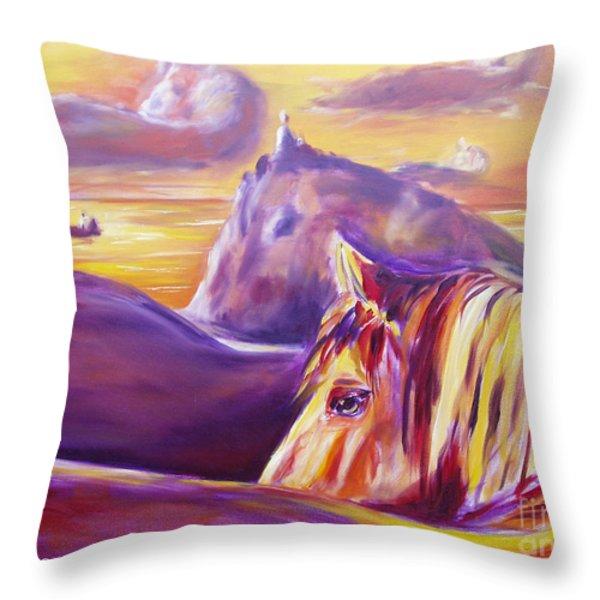 Throw Pillows - View Throw Pillow by Gina De Gorna