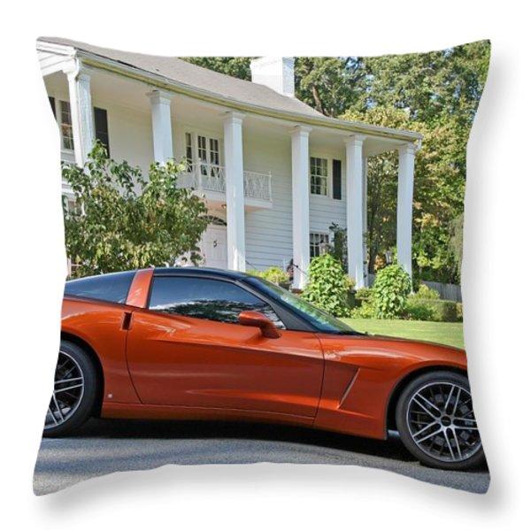 2005 Corvette C6 Throw Pillow by John Black