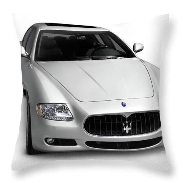 2009 Maserati Quattroporte S Throw Pillow by Oleksiy Maksymenko