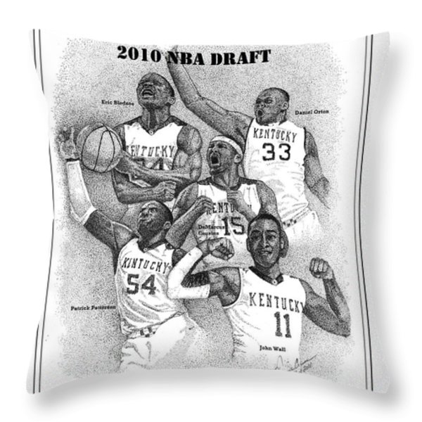 2010 NBA Draft Throw Pillow by Tanya Crum