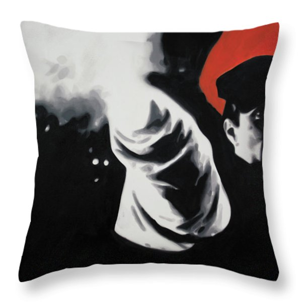 - The Godfather - Throw Pillow by Luis Ludzska
