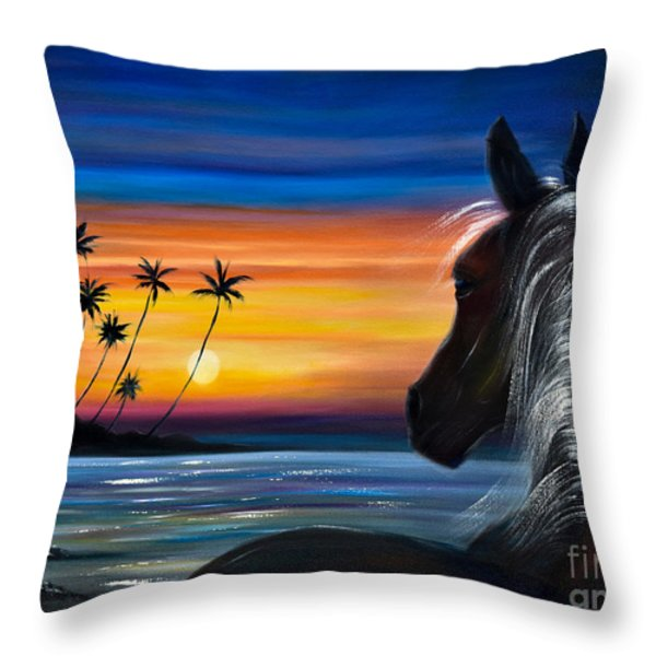 Throw Pillows - Ill Be There Throw Pillow by Gina De Gorna