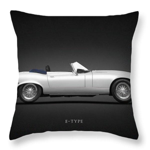 Jaguar E-Type Throw Pillow by Mark Rogan