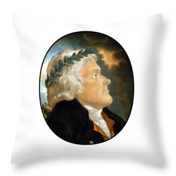 President Thomas Jefferson Throw Pillow by War Is Hell Store