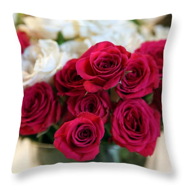 Roses Throw Pillow by Amanda Barcon