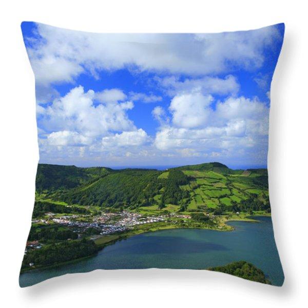 Sete Cidades - Azores Throw Pillow by Gaspar Avila