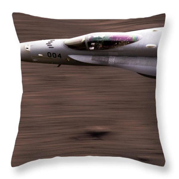 Speed Of Sound Throw Pillow by Angel  Tarantella