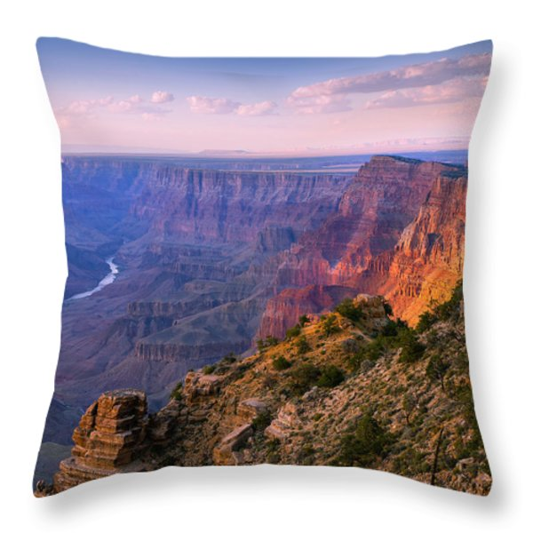 Canyon Glow Throw Pillow by Mikes Nature